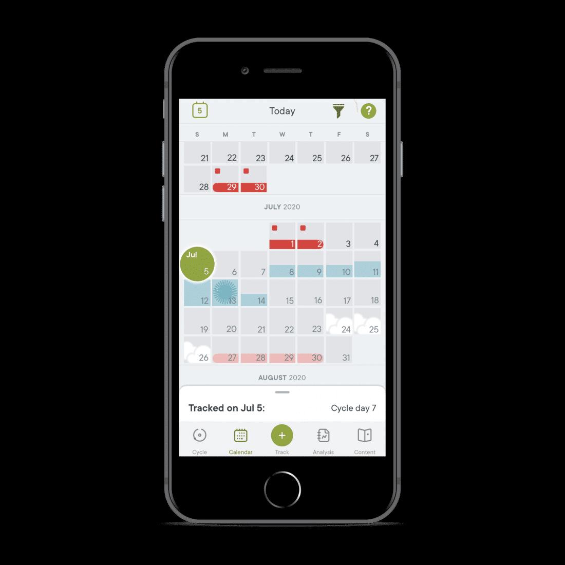 Clue menstruatie app