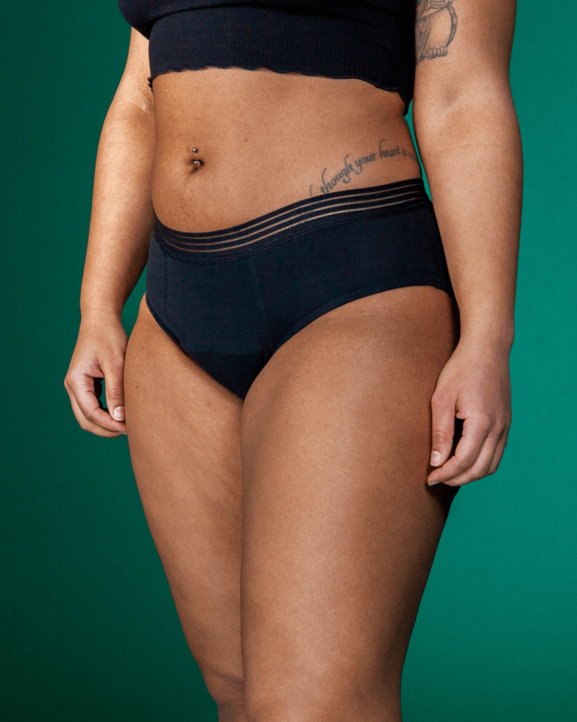 Mid-waist-period underwear